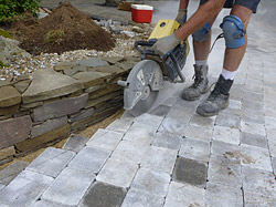 Lay The Pavers Beyond Main Body Of Your Installation And Into Border Area Mark Cut In Place