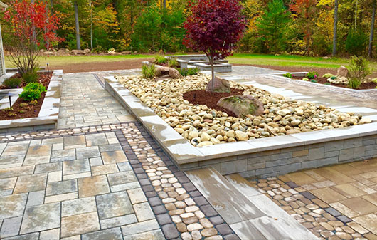 Hybrid – pavers & poly sand over drainage stone – without fabric