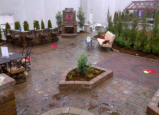 Last Winter Visitors To The Louisville Home U0026 Garden Show Voted Bluegrass  Pavers Display Number 1 In The Belgard Challenge Contest.